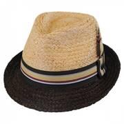 Trinidad Raffia Straw Trilby Fedora Hat