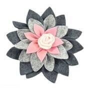 Felt Flower Hat Clip
