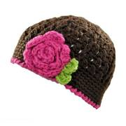 Toddlers' Flower Knit Beanie Hat