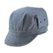 Striped Denim Engineer Cap