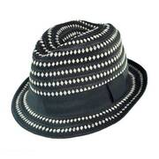 Diamond Ribbon Fabric Fedora Hat