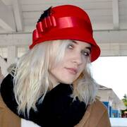 Chloe Wool Felt Cloche Hat