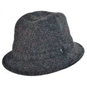 Windowpane Wool Trilby Fedora Hat