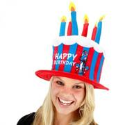 Cat in the Hat Birthday Cake Hat
