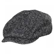 Brood Herringbone Baggy Newsboy Cap