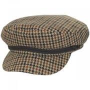 Houndstooth Tweed Wool Blend Fiddler's Cap