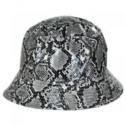 Snakeskin Cotton Blend Bucket Hat