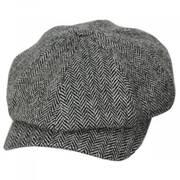 Classic Shetland Wool Herringbone Newsboy Cap