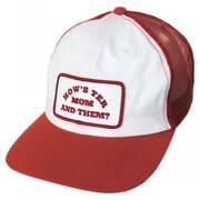 Question Hemp Cotton Mesh Blend Snapback Baseball Cap