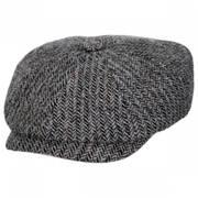 Hatteras Herringbone Wool Newsboy Cap