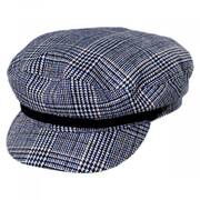 Tweed Blue Fiddler's Cap