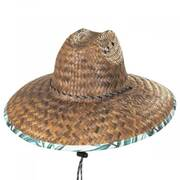 Paraiso Coconut Straw Lifeguard Hat