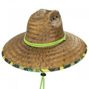 Avocado Coconut Straw Lifeguard Hat