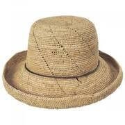 Lana Crocheted Raffia Straw Sun Hat