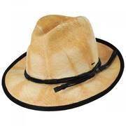 Clafin Tie Dye Panama Straw Fedora Hat