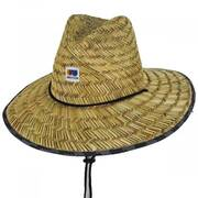 Alton Rush Straw Lifeguard Hat