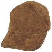 Cascade Suede Leather Fitted Baseball Cap