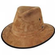 Chelan Suede Leather Safari Fedora Hat