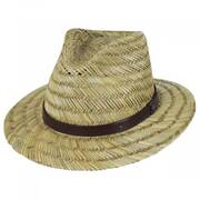 Messer Resort Rush Straw Fedora Hat