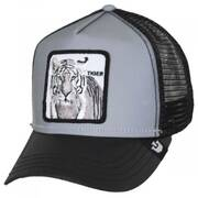 Reflective Tiger Mesh Trucker Snapback Baseball Cap