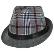 Roy Plaid Cotton Trilby Fedora Hat