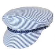 Ashland Slate Stripe Cotton and Linen Blend Fiddler's Cap