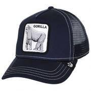 Silverback Trucker Snapback Baseball Cap - Black