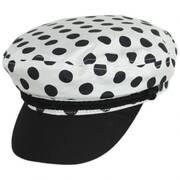 Ashland Polka Dot Cotton Fiddler's Cap