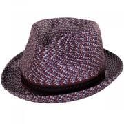 Mannes Wine Poly Braid Fedora Hat