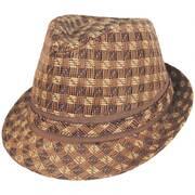 Plaid Toyo Straw Fedora Hat