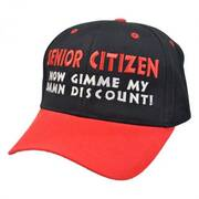 Senior Citizen Discount Snapback Baseball Cap
