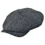 Herringbone Harris Tweed Wool Newsboy Cap