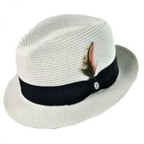 Toyo Straw Braid Trilby Fedora Hat