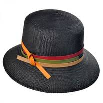 Panama Straw Cloche Hat