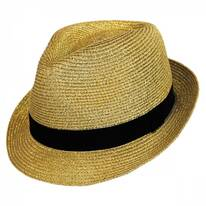 Metallic Straw Trilby Fedora Hat
