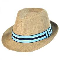 Kid's Jute Fedora Hat
