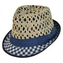 Kid's Picnic Cotton and Straw Fedora Hat