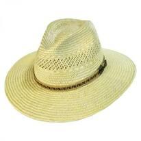 Mackinaw Jute Straw Fedora Hat