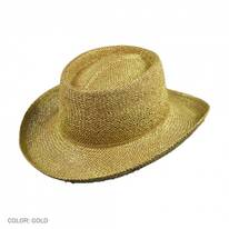 Untrimmed Toyo Straw Gambler Hat