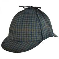 Checkered Wool and Cashmere Sherlock Holmes Deerstalker Hat
