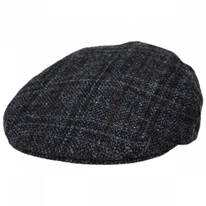 Plaid Harris Tweed Ivy Cap