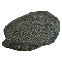 Herringbone Donegal Tweed Wool Newsboy Cap