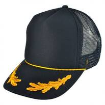 Gold Leaves Mesh Trucker Snapback Baseball Cap
