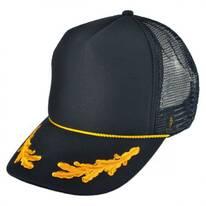 Gold Leaves Mesh Trucker Snapback Baseball Cap