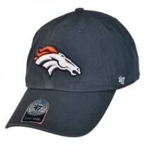 Denver Broncos NFL Clean Up Strapback Baseball Cap Dad Hat