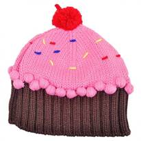Cupcake Knit Beanie Hat
