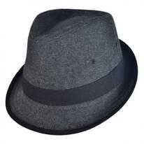 Kid's Tweed Fabric Fedora Hat