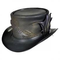 Draco Leather Top Hat