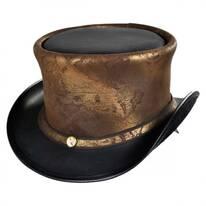 Hatlas Leather Top Hat