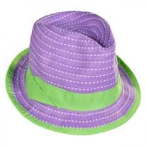 Kid's Ribbon Fabric Fedora Hat